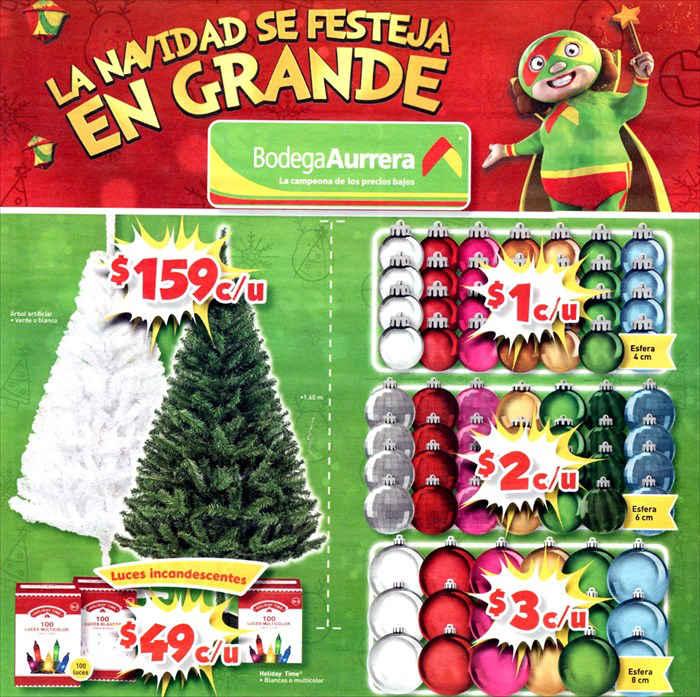 Bodega aurrera folleto de ofertas y promociones de - Arboles de navidad precios ...