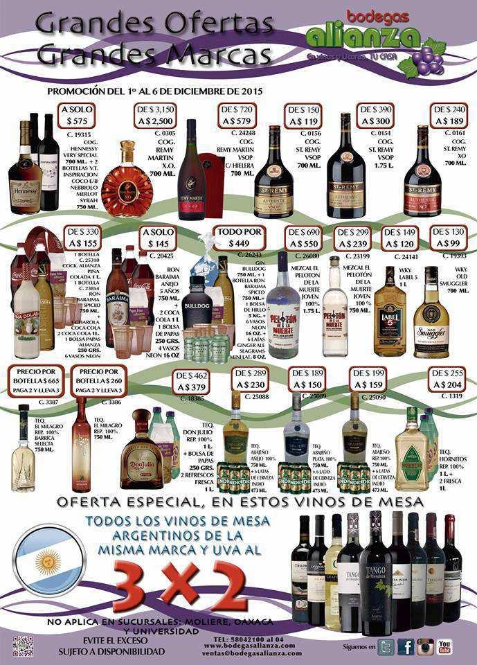 Bodega aurrera vinos y licores