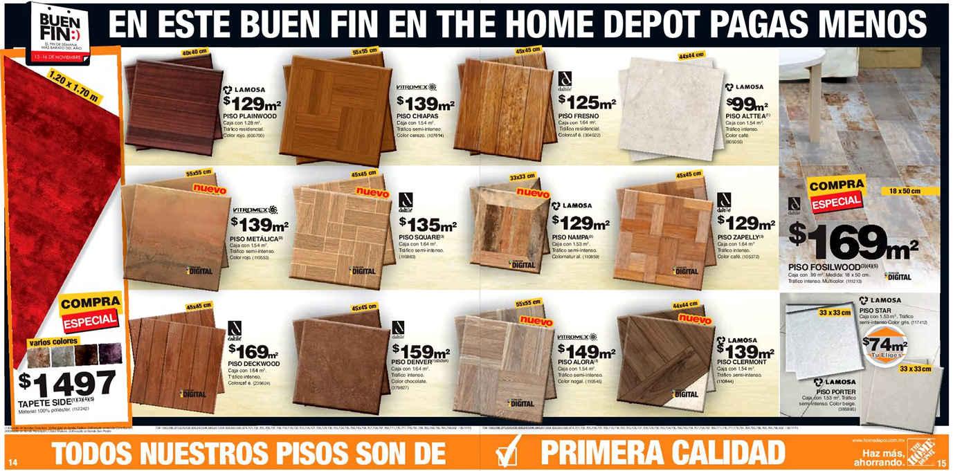 Folleto de ofertas del buen fin 2015 y navidad en the home for The home depot pisos