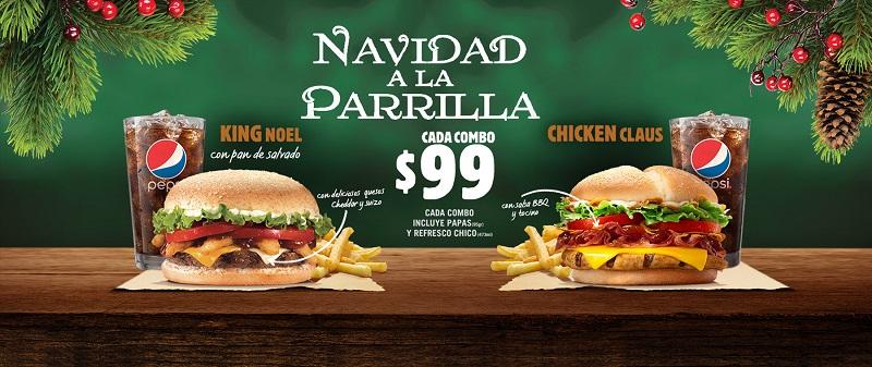 Burger King Combos de Navidad
