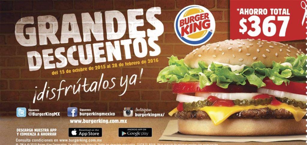 Burger King cupones de descuento