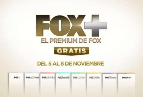Canales de Fox+ Gratis