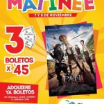 Cinemex 3 boletos por $45 para Película Peter Pan