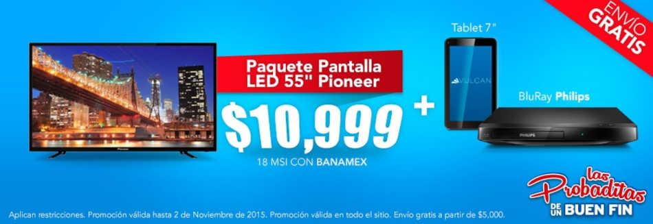 Famsa Pantalla led 55″ + Bluray Philips + Tablet 7″