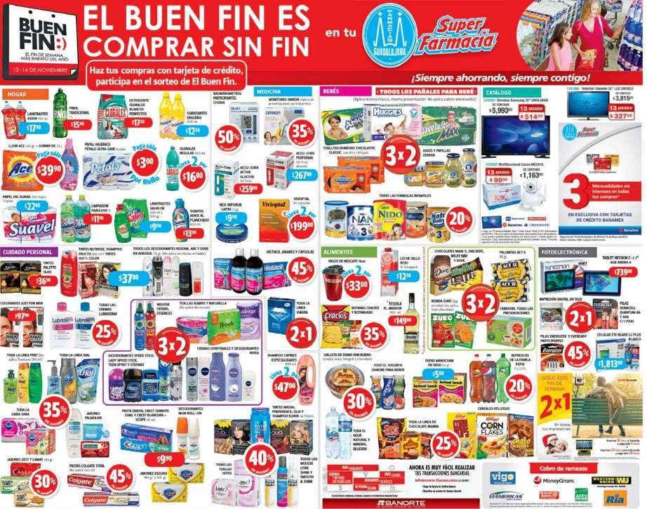 Farmacias Guadalajara Folleto Promociones del Buen Fin 2015