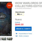 Gameplanet Wow Warlords of Draenor Collectors Edition