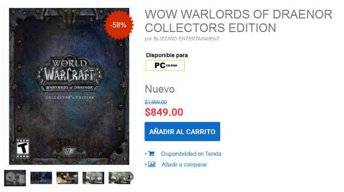 Gameplanet: Wow Warlords of Draenor Collectors Edition $849
