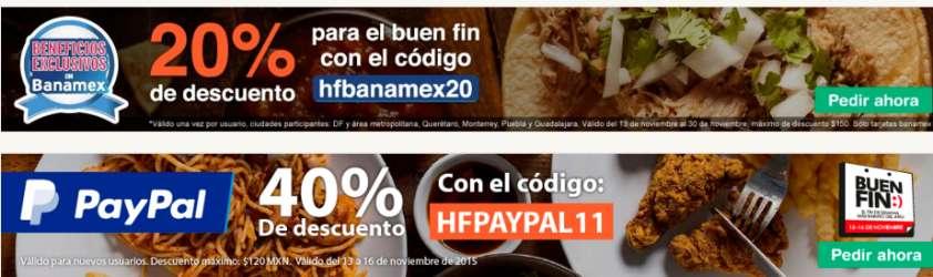Hellofood Promociones del Buen Fin 2015