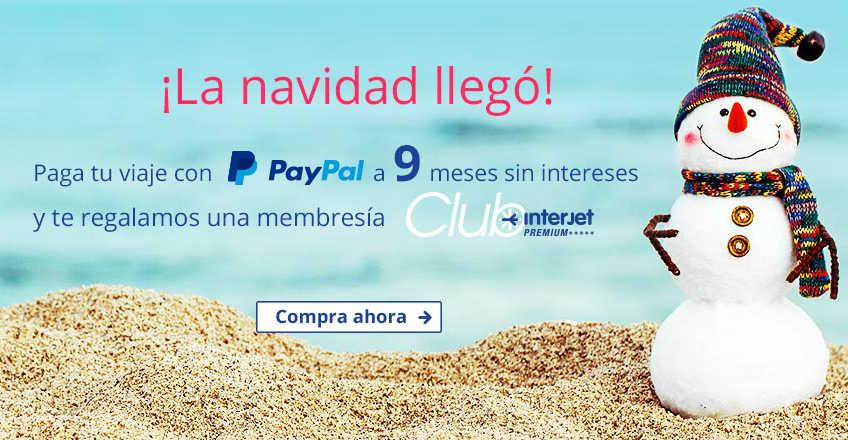 Interjet Gratis Club Interjet con PayPal a 9 MSI