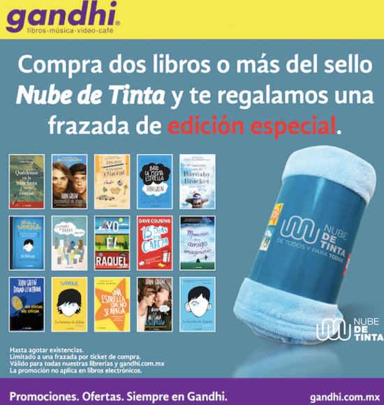 Librerías Gandhi Frazada gratis al comprar 2 libros