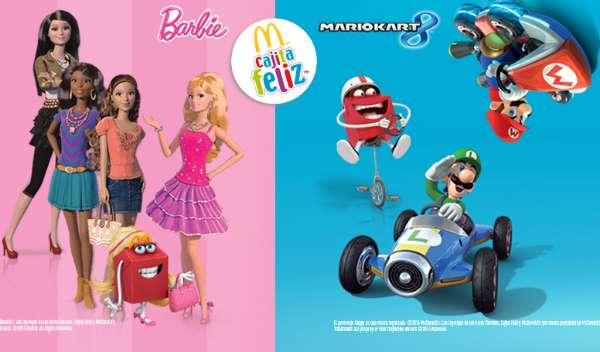 McDonald's Nueva cajita feliz de Mario Kart 8 y Barbie