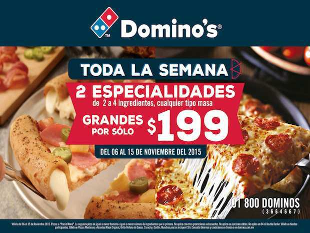 Ofertas del Buen Fin 2015 en Domino's Pizza