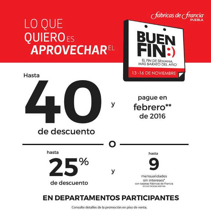 Ofertas del Buen Fin 2015 en Fábricas de Francia