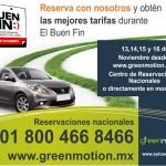 Ofertas del Buen Fin 2015 en Green Motion Car Rental