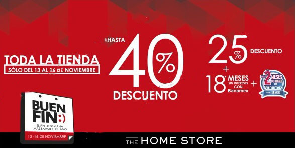 Ofertas del Buen Fin 2015 en The Home Store