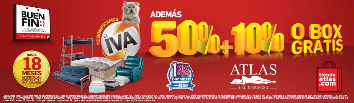 Ofertas del buen fin 2015 en tiendas atlas for Ofertas recamaras buen fin