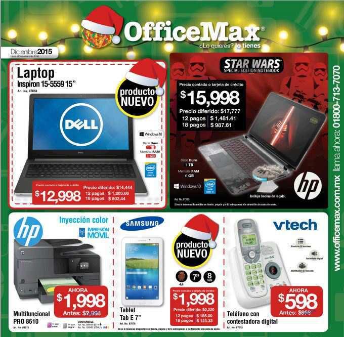 Office Max Folleto de ofertas diciembre 2015