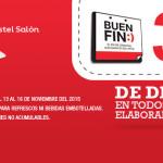 Promociones del Buen Fin 2015 en Pastelerías El Globo