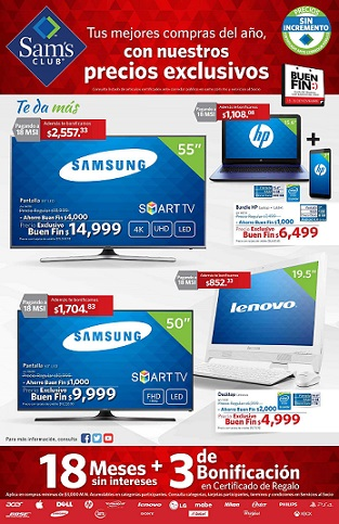 Folleto de Ofertas del Buen Fin 2015 Sam's Club