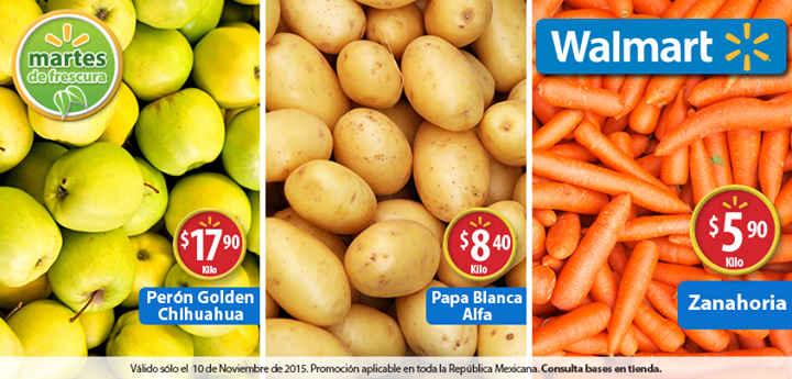 Walmart: Martes de Frescura Frutas y Verduras 10 de Noviembre