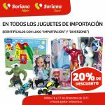 Soriana descuento en juguetes importados