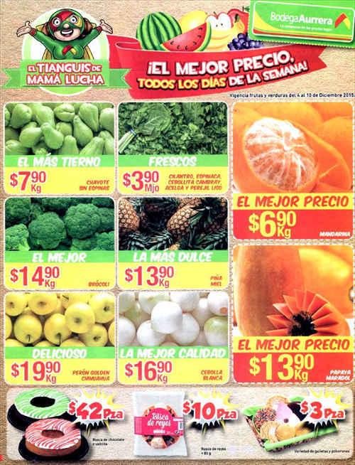 Bodega Aurrera Frutas y Verduras