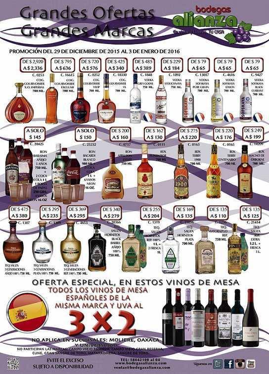 Bodegas Alianza ofertas de vinos y licores 2016