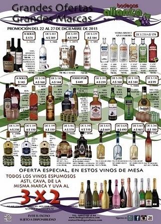 Bodegas Alianza ofertas de vinos y licores diciembre