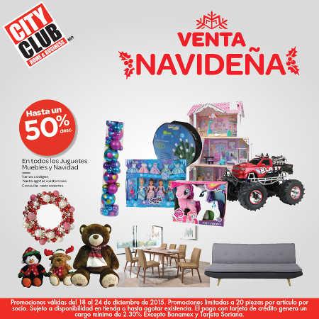 City Club venta navideña diciembre 2015