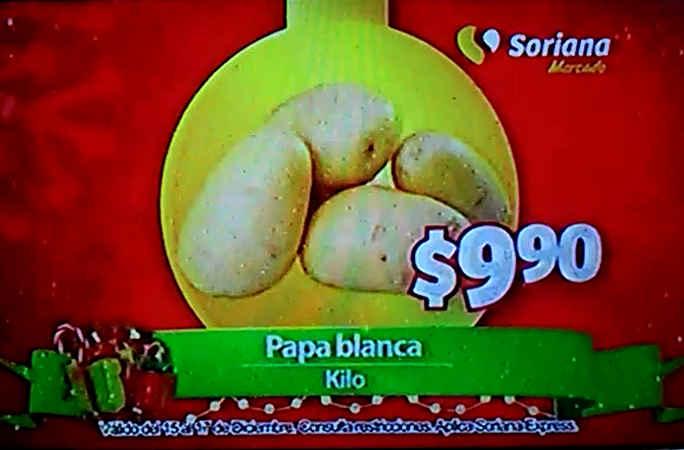 Frutas y Verduras Soriana Mercado Diciembre