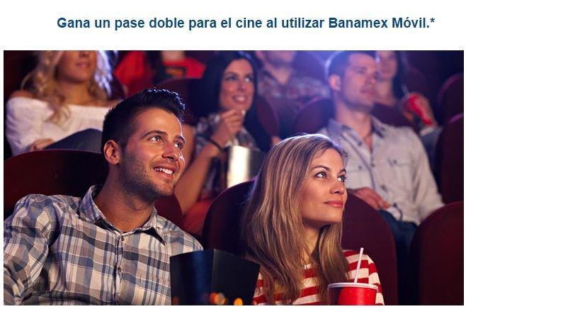 Banamex Gana dos entradas Gratis para el cine