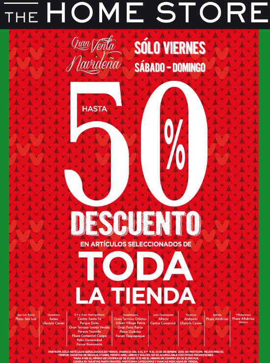 Gran venta navideña The Home Store