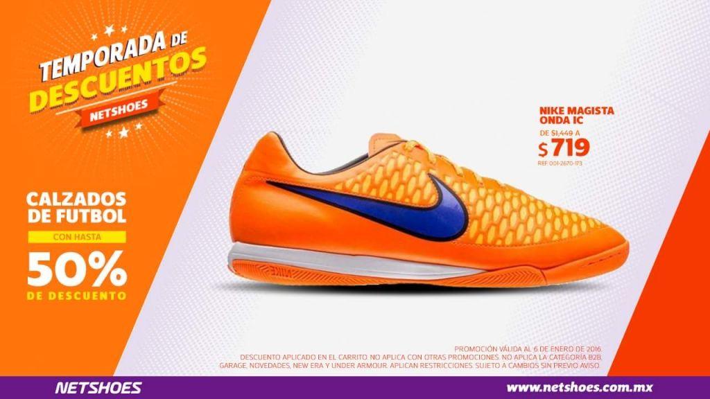 Netshoes descuentos en calzados de fútbol