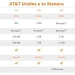 Planes AT&T Unidos a Tu Manera Más Datos Para Navegar