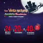 Sanborns Venta Nocturna Navideña Diciembre 2015