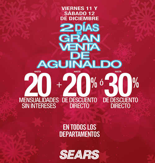 Gran venta de aguinaldo Sears 2015