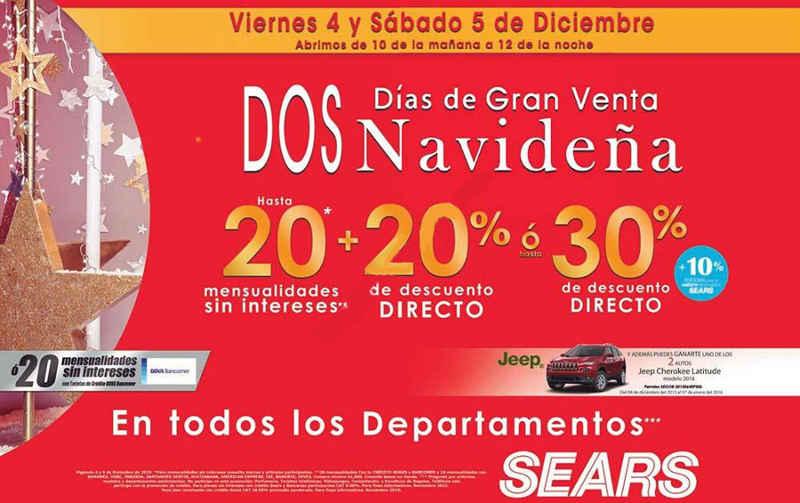 Gran Venta Navideña Sears Diciembre 2015