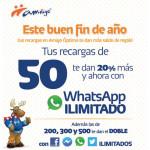 Telcel whatsapp Gratis en recargas de $50