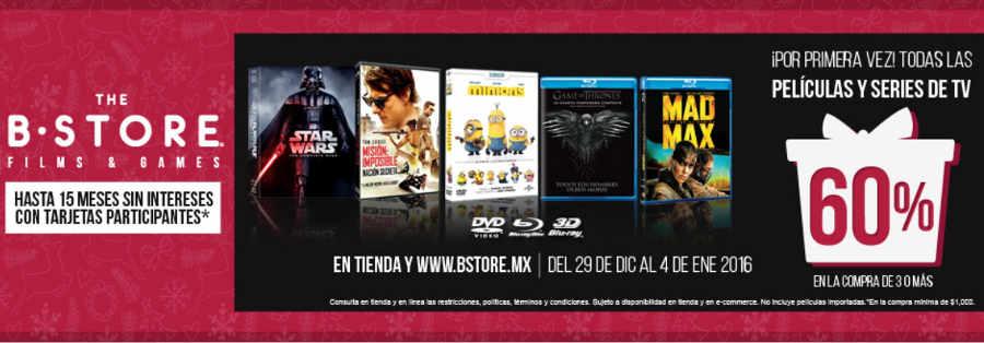 The B-Store descuentos en películas y series de tv