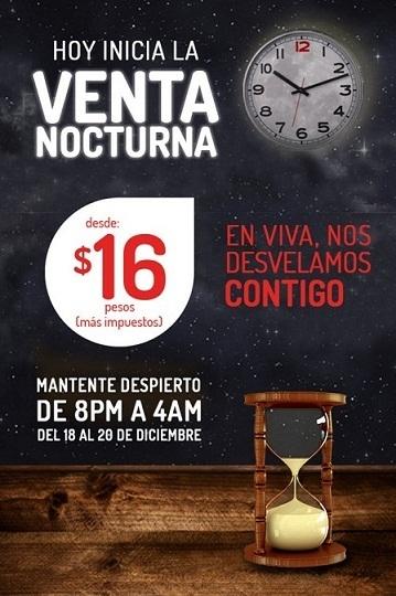 Venta Nocturna VivaAerobus Diciembre 2015