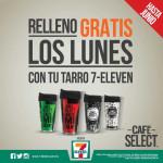 7-Eleven Relleno gratis de Tarros de café los Lunes