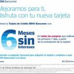 BBVA Bancomer meses sin intereses