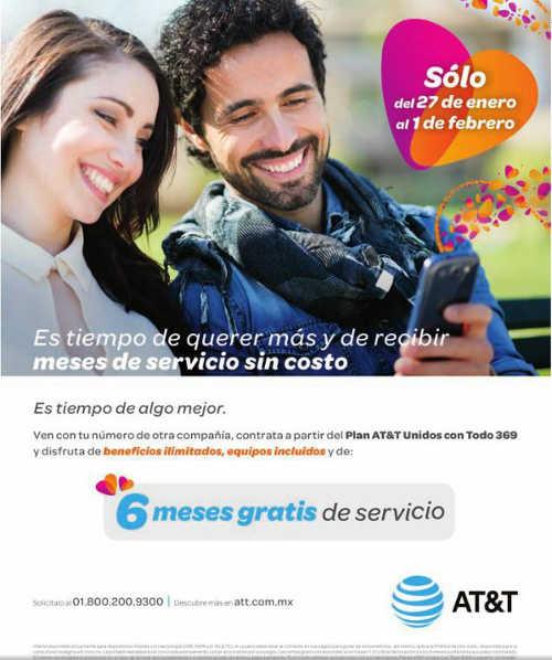 AT&T meses gratis de servicio al cambiarte de compañía