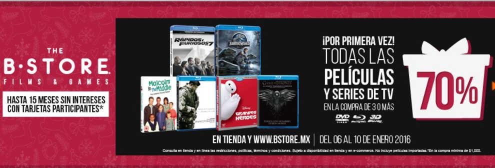 The B-Store descuentos peliculas y series
