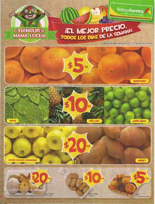 Bodega Aurrera frutas y verduras enero 2016