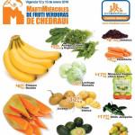Frutas y verduras Chedraui Enero 12