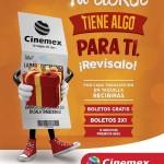 Cinemex entradas gratis, boletos 2x1 y más premios en los tickets