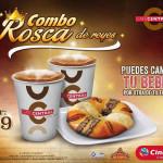 Cinemex Combo Rosca de reyes mas bebida
