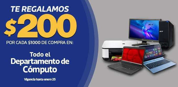Comercial Mexicana 2x1 pañales Huggies y descuento computadoras