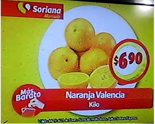 Frutas y Verduras Soriana Mercado Enero 2016